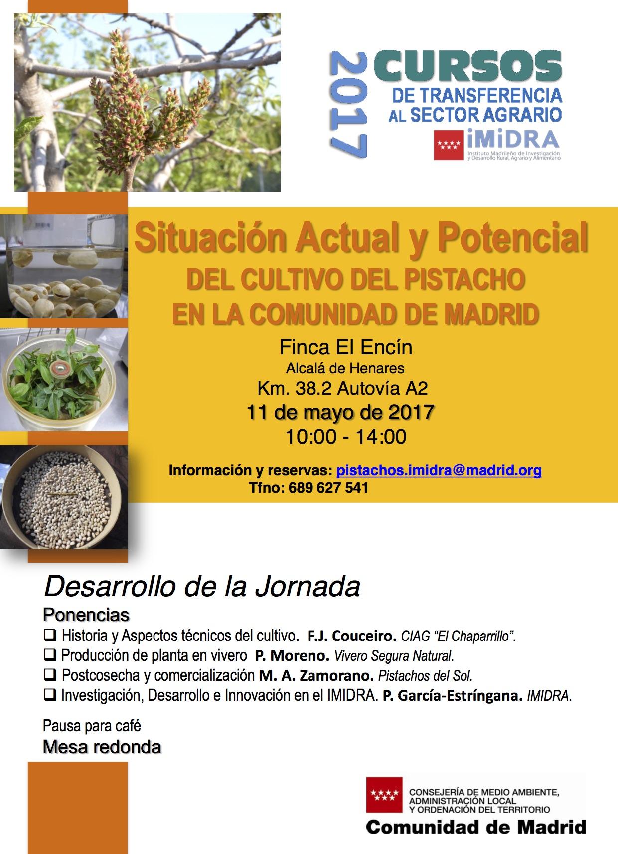 Jornada Pistacho IMIDRA 11 Mayo